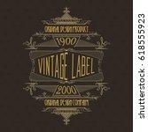 vintage typographic label... | Shutterstock .eps vector #618555923