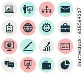 job icons set. collection of... | Shutterstock .eps vector #618564317