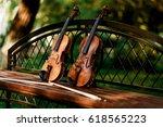 violin music instrument of... | Shutterstock . vector #618565223