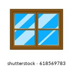 window cartoon vector symbol... | Shutterstock .eps vector #618569783