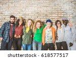 group portrait of multi ethnic... | Shutterstock . vector #618577517