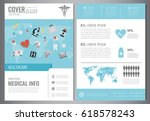 medical brochure design... | Shutterstock .eps vector #618578243