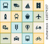 shipment icons set. collection... | Shutterstock .eps vector #618579257