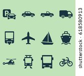 transport icons set. collection ... | Shutterstock .eps vector #618580913