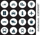 shipment icons set. collection... | Shutterstock .eps vector #618584087