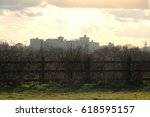 a view of windsor castle from... | Shutterstock . vector #618595157