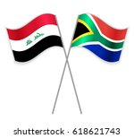 iraqi and south african crossed ... | Shutterstock .eps vector #618621743