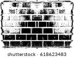 grunge black and white urban... | Shutterstock .eps vector #618623483