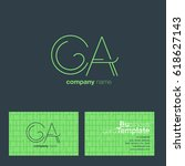 ca  c a  c   a letters joint...   Shutterstock .eps vector #618627143