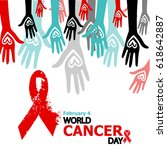 world cancer day | Shutterstock . vector #618642887