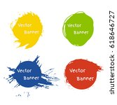set of round colorful vector... | Shutterstock .eps vector #618646727