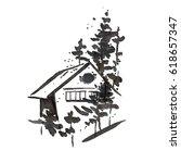 House. An Illustration Drawn I...