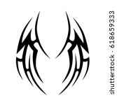 tribal tattoo art designs.... | Shutterstock .eps vector #618659333