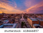 sunset over the washington... | Shutterstock . vector #618666857