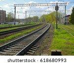 Railroad Zone Landscape With...
