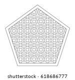 linear pattern of geometric...   Shutterstock .eps vector #618686777