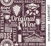 retro styled typographic vector ... | Shutterstock .eps vector #618698387