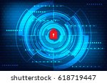 abstract technology concept... | Shutterstock .eps vector #618719447