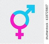 male female gender symbol icon | Shutterstock .eps vector #618725807