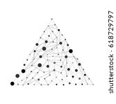 vector pyramid with dots and... | Shutterstock .eps vector #618729797