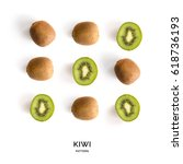 Seamless Pattern With Kiwi....