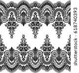 seamless lace pattern  flower...   Shutterstock .eps vector #618740393