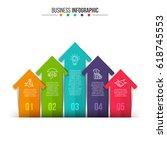 business data visualization.... | Shutterstock .eps vector #618745553