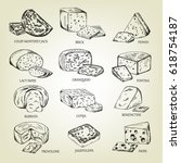 graphic sketch of different... | Shutterstock .eps vector #618754187