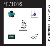 flat knowledge  study set of... | Shutterstock .eps vector #618760493