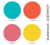 grunge circle vector... | Shutterstock .eps vector #618769337