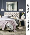modern design bedroom interior  | Shutterstock . vector #618804323