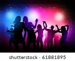 party people background  ... | Shutterstock .eps vector #61881895