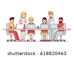 start up business team working... | Shutterstock .eps vector #618820463
