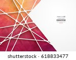 abstract geometric background... | Shutterstock .eps vector #618833477