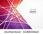abstract geometric background... | Shutterstock .eps vector #618833663