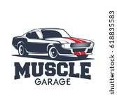 classic sports muscle car... | Shutterstock .eps vector #618835583