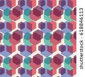 color hexagon geometric pattern ... | Shutterstock .eps vector #618846113