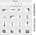 measuring tools web icons for... | Shutterstock .eps vector #618860843