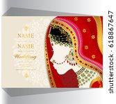 wedding invitation card... | Shutterstock .eps vector #618867647