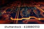 circuit board futuristic server ... | Shutterstock . vector #618880553