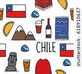 seamless doodle pattern. chile... | Shutterstock .eps vector #618910637