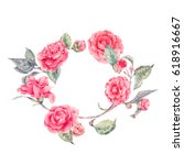 vintage natural vector wreath... | Shutterstock .eps vector #618916667