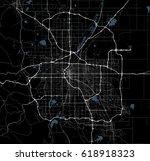 black and white map of denver...