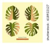 vector tropical card design... | Shutterstock .eps vector #618922127