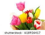 close up flowers on white... | Shutterstock . vector #618926417