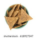 top view of a small bowl filled ... | Shutterstock . vector #618927347