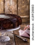 homemade chocolate cake on... | Shutterstock . vector #618928883