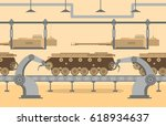 the conveyor at munitions... | Shutterstock .eps vector #618934637