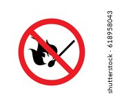 no matches and fire icon sign... | Shutterstock .eps vector #618958043
