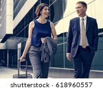 business people coworkers... | Shutterstock . vector #618960557